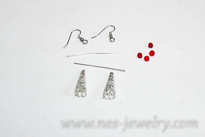 Boho style textile earrings DIY 03