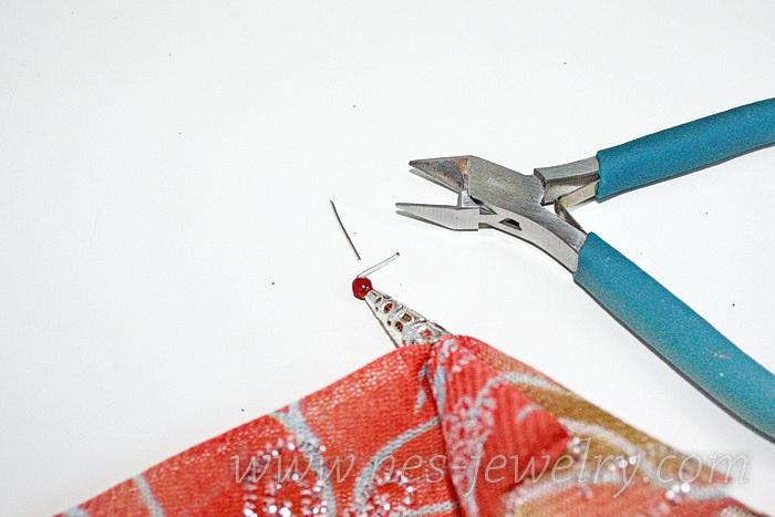 Boho style textile earrings DIY 10