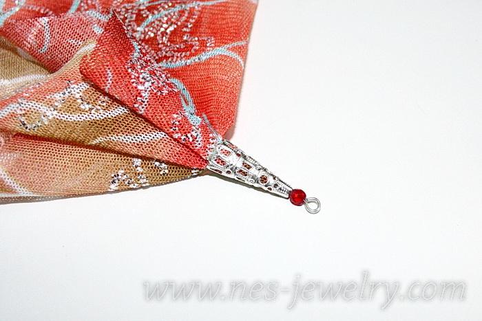 Boho style textile earrings DIY 11