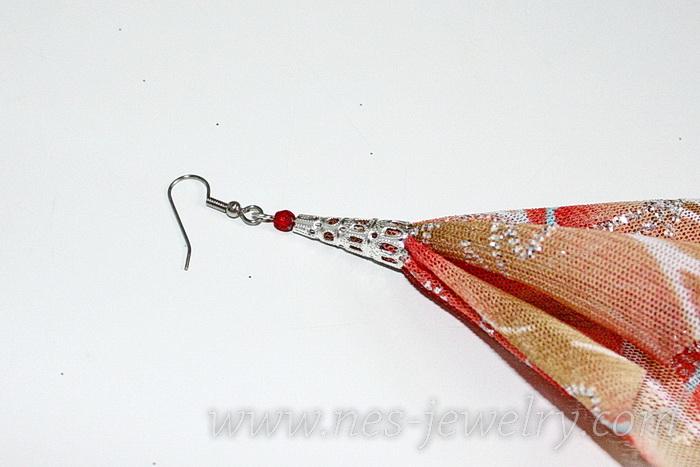 Boho style textile earrings DIY 12
