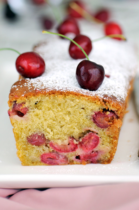 Cherry and amaretto cake 2