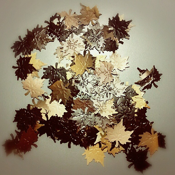 Maple leaves scrapbooking DIY tutorial 2
