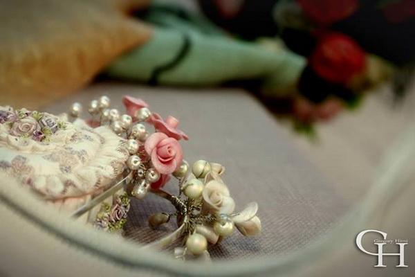 Pearls roses bridal prom girl headbans 20s style 331720329