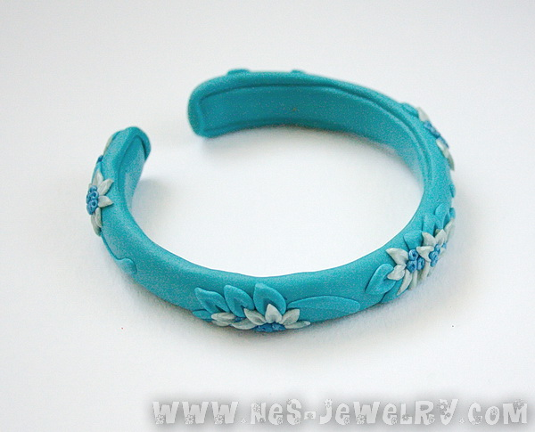 Blue filigree bracelet 1