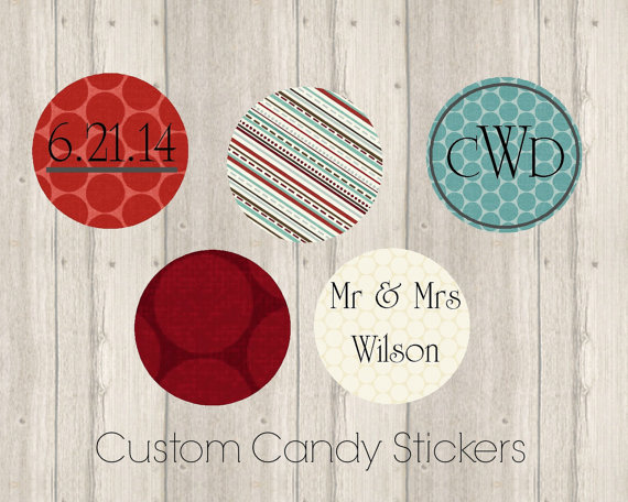 Customized wedding favor labels 5