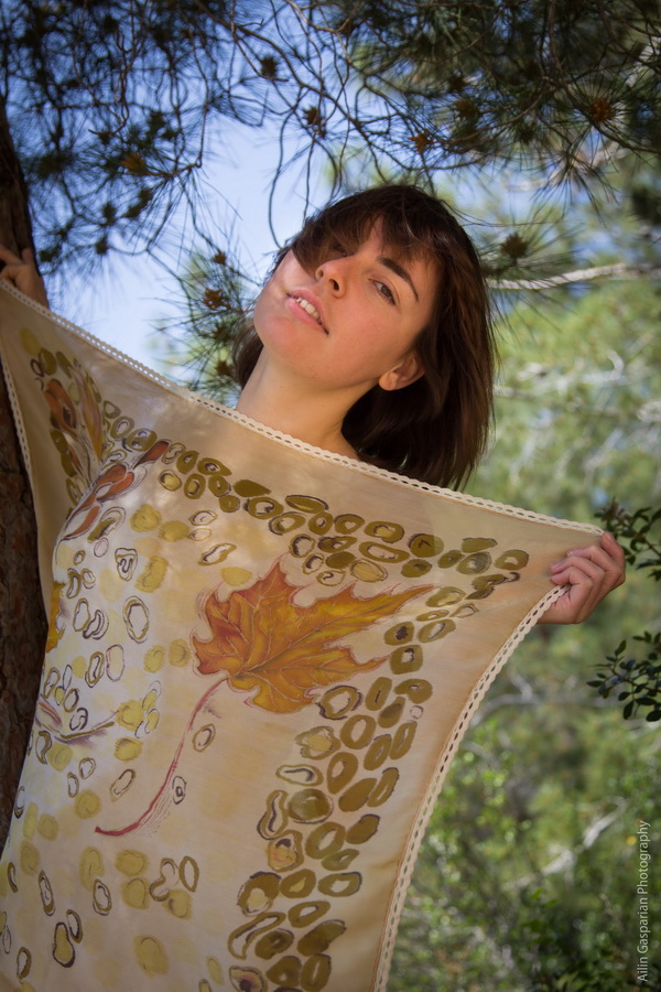 Handpainted silk scarves by Elena Kuzina Photo by Ailin Gasparian 17