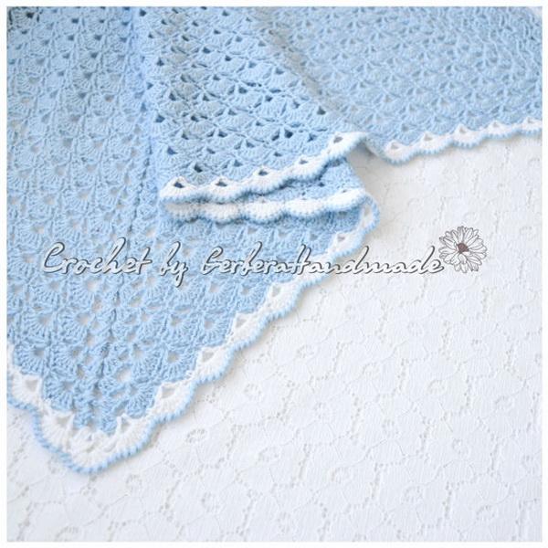 handmade baby goods from Etsy blue crocheted blanket
