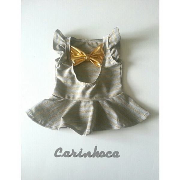 handmade baby goods from Etsy grey girl shirt