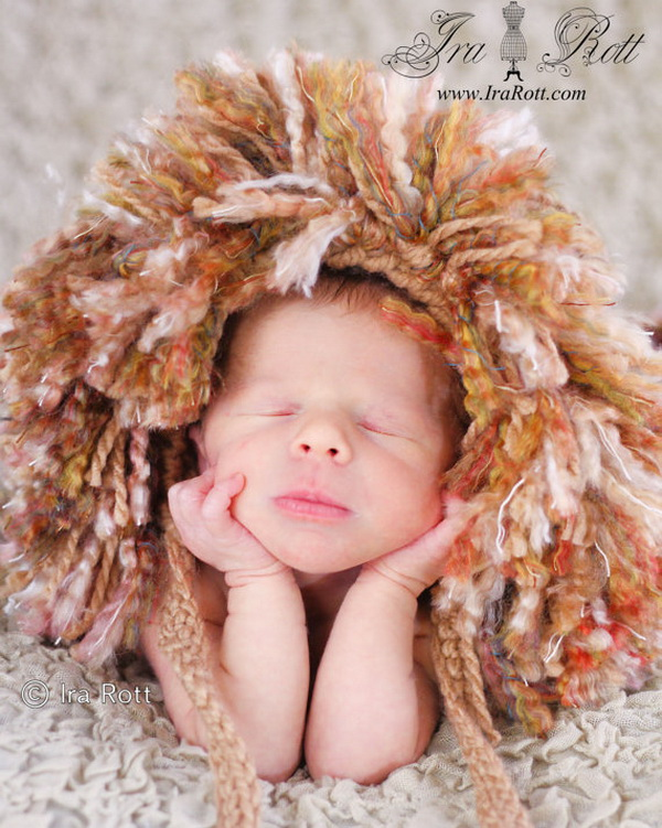 handmade baby goods from Etsy lion hat