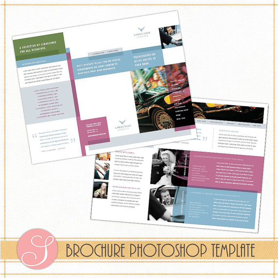 Brochure Illustrator template 1