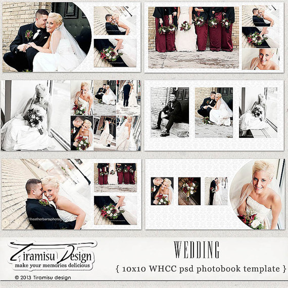 Wedding Photobook, Album Photoshop Templates