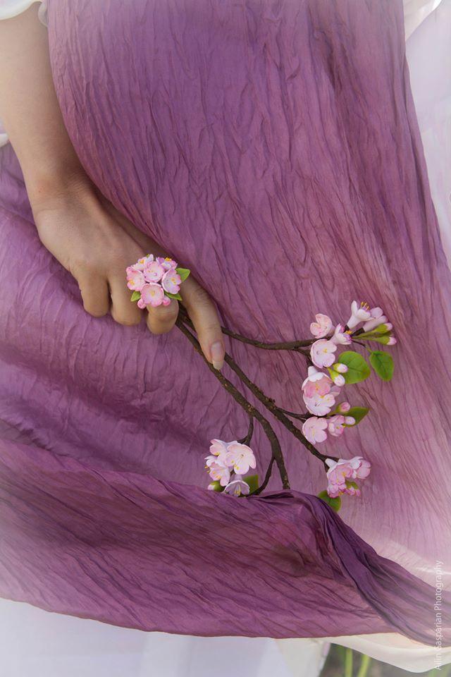 Hand painted silk Flower Women 28